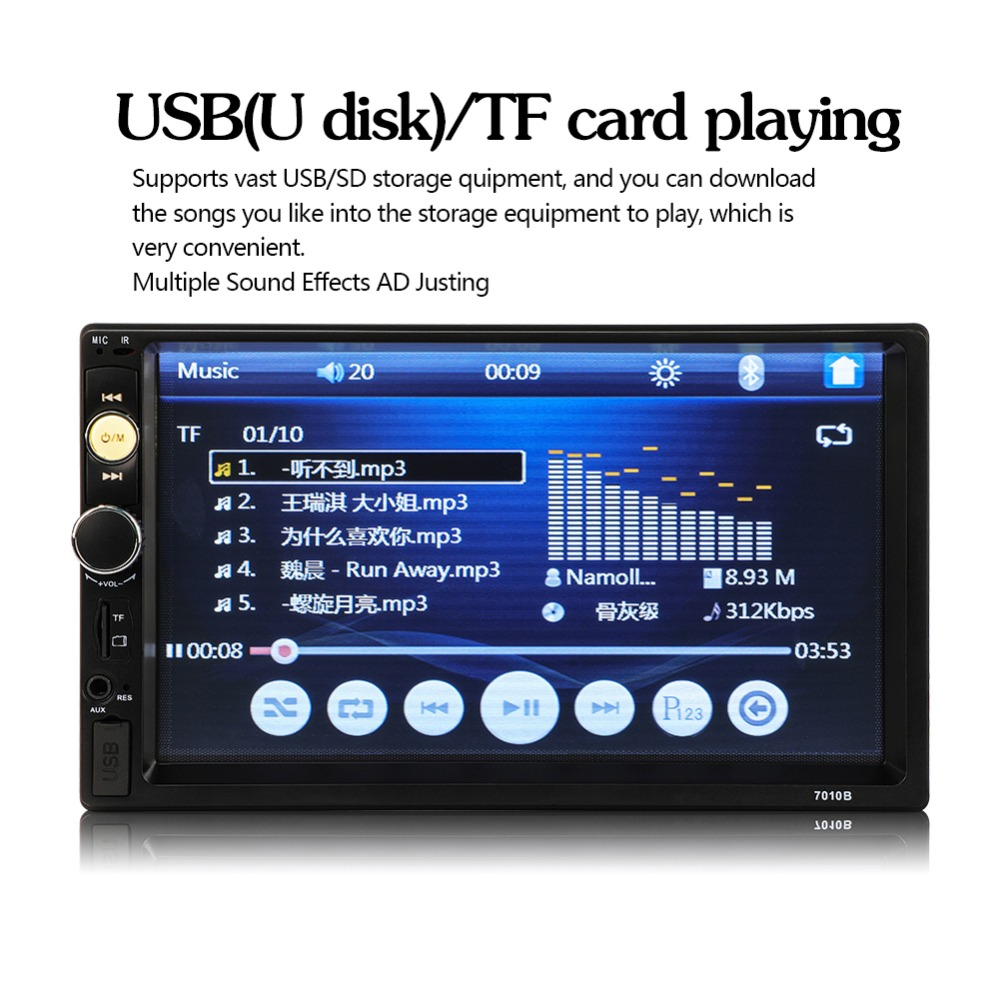 US $33 11 46% OFF|Upgrade 7010B 2 din car radio 7