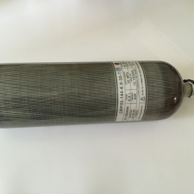 4500PSI 30Mpa high pressure 6.8L carbon fiber cylinder, hot sale SCBA cylinder tank