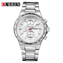 cda8c5fa7f03 Curren calendario masculino reloj de acero reloj de cuarzo impermeable reloj  marea marca casual moda masculina