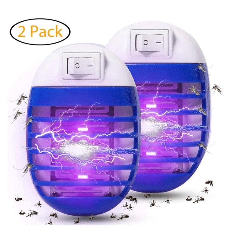 2 pcs 모기 킬러 램프 버그 재빠른 전자 곤충 킬러 실내 가장 비행 해충