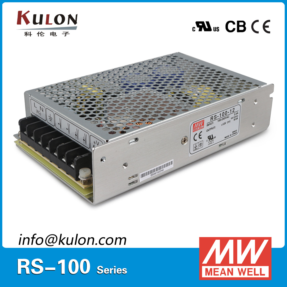 Genuine Mean Well RS-100-5 single output 80W 16A 5Vdc meanwell Power Supply CB UL CE approved [powernex] mean well original rs 100 24 meanwell rs 100 single output switching power supply
