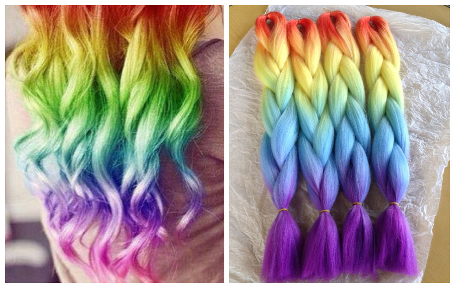 New Hot Ombre Highlight Trend Rainbow Hairstyles For Chic Women