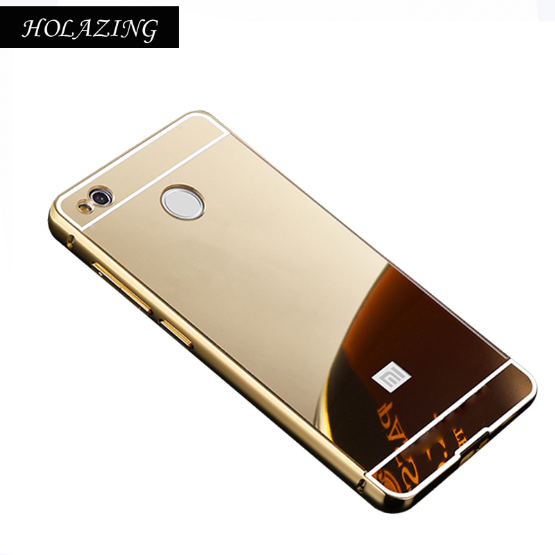 2 в 1 съемная металлический Алюминий бампер Рамки для Xiaomi Redmi 4x с зеркала тонкий жесткий Coque принципиально capinha