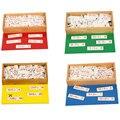 Деревянный Монтессори математические игрушки Монтессори дополнение коробка арифметики развивающие светодиод автомобильной шины CAN для де...