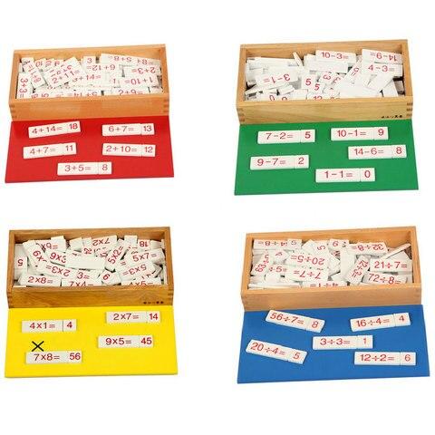 montessori matematica brinquedos de madeira montessori adicao caixa aritmetica bebe aprendendo brinquedos educativos para criancas