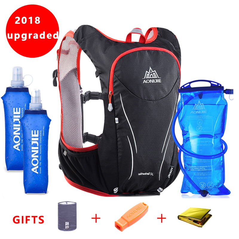 2018 AONIJIE Women Men Marathon Hydration Vest Pack For 1 5L Water Bag Cycling Hiking Bag