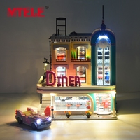 MTELE Brand The Downtown Diner Led Lighting Set For Creator Building Block Light Kit Compatible With