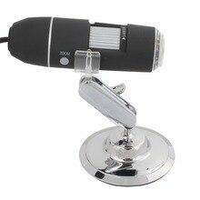 Высокое Качество 1600X2 МП USB 8 Светодиодов Цифровой Микроскоп Инспекции Камеры Лупа с Металлическая Стойка
