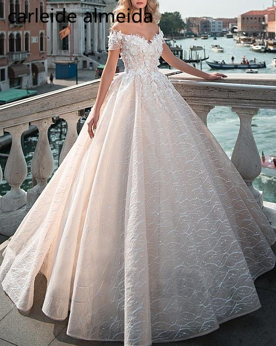 Us 1650 40 Offrobe De Mariee Sweetheart Princess Wedding Dress Unique Lace Luxury Bride Dress Chapel Train Abiti Da Sposa 2019 Brautkleid In