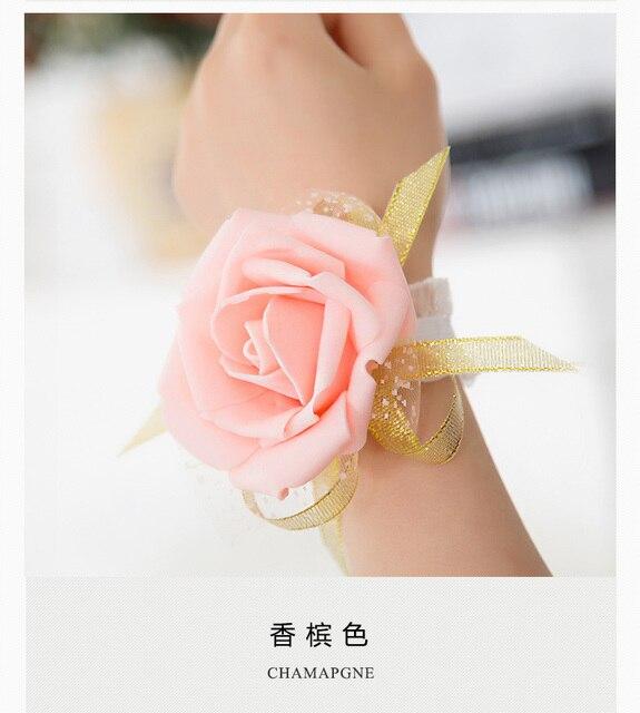 Braut handblume hochzeit handgelenk blume hochzeit liefert ...
