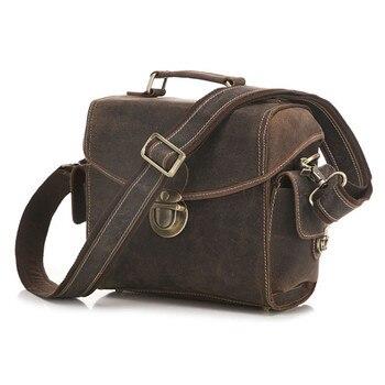 Men's Handbag Vintage Top Layer Leather SLR Camera Bag Shoulder Diagonal Camera Bag 3516