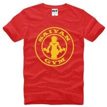 Dragon Ball Z Saiyan Printed Short Sleeve O-Neck Cotton Men's T Shirt
