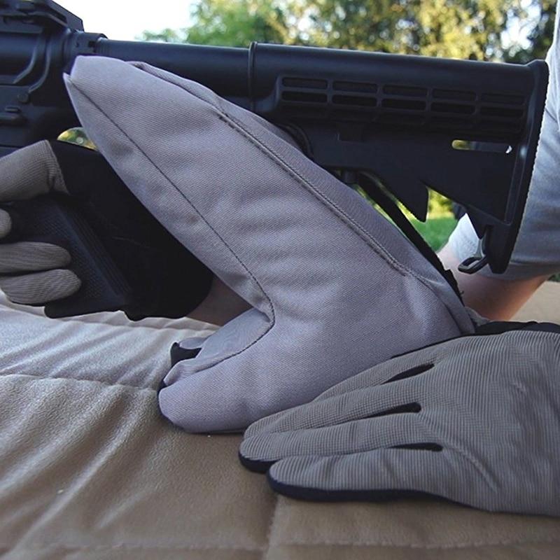 Versión Mejorada de Tiro Táctico portátil Pistola Resto Trasero Bolsa Set Frontal y Trasera de Objetivo Rifle Caza Banco Sin Cubrir Soporte * 2 UNID