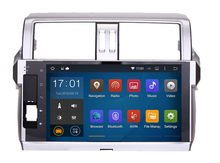 10.2″ Quad-Core Android 5.1.1 1024×600 GPS Stereo for Toyota new Prado 150 2014 2015 touch screen wifi bluetooth MIC free map BT