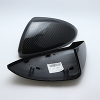 for Volkswagen VW Lamando golf 7 MK7 GTI GTD 2014 2018 car styling Replacement Side Wing Mirror Covers Caps (Carbon Pattern)