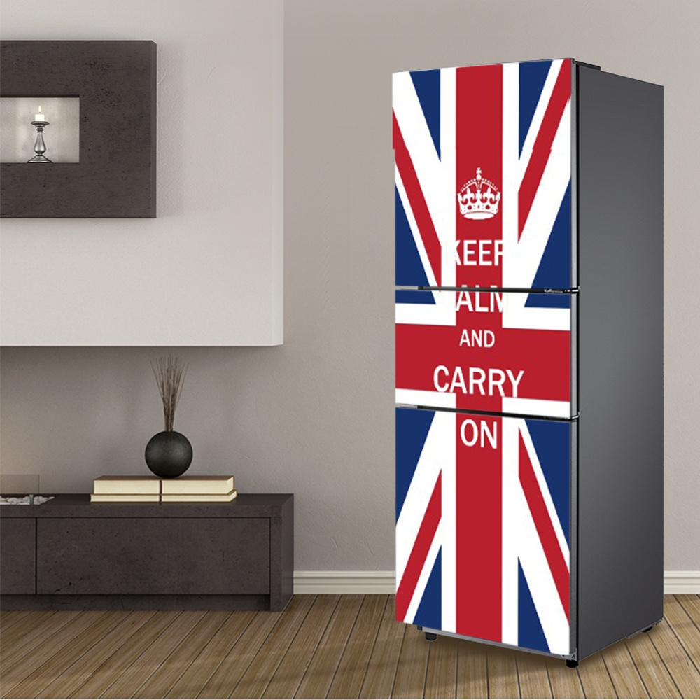 Us 18 07 37 Off Diy British Flag Waterproof Selfadhesive Refrigerator Sticker Fridge Door Sticker Wallpaper Kitchen Wall Decor Stickers In Wall