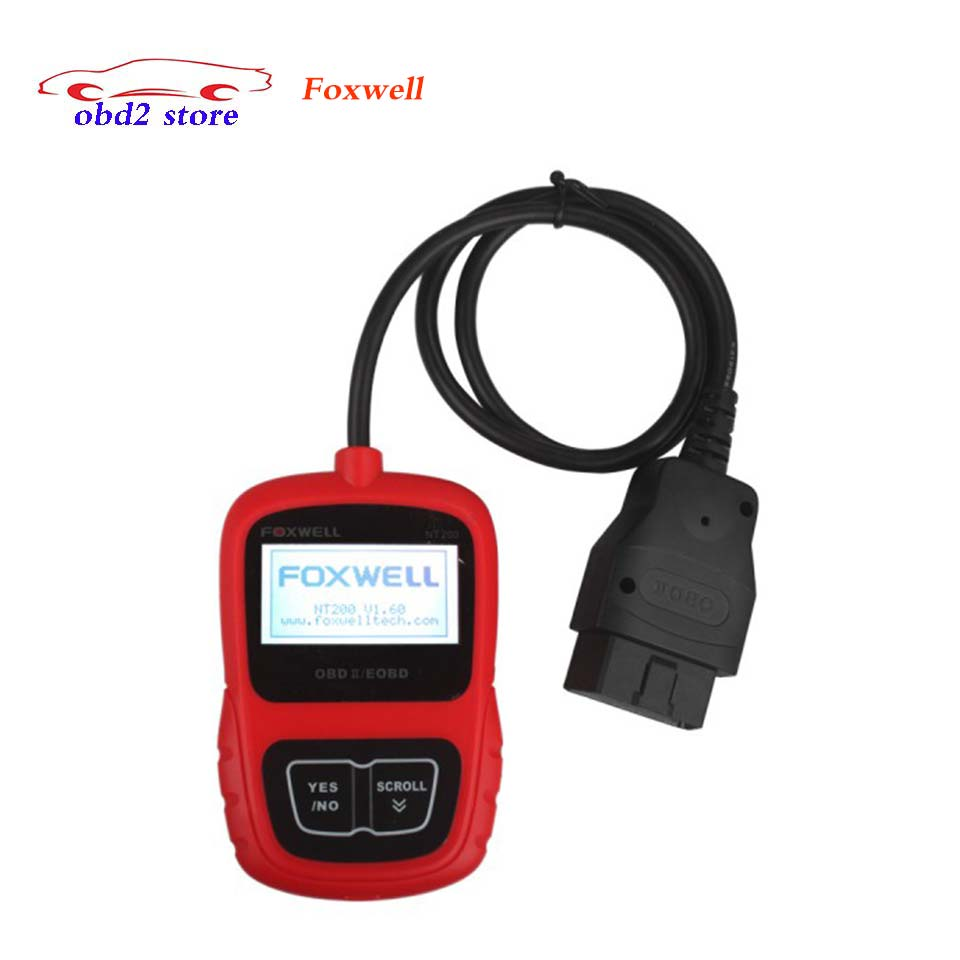 Hot Foxwell NT200 CAN OBDII/EOBD Auto Code Reader Scan Tool Foxwell nt 200 OBD2 Car Diagnostic-Tool Obd 2 Obd-ii vehicle Scanner vgate super scan tool vs600 code reader car diagnostic tool vag obd2 obdii eobd auto scanner automotive diagnostic tool
