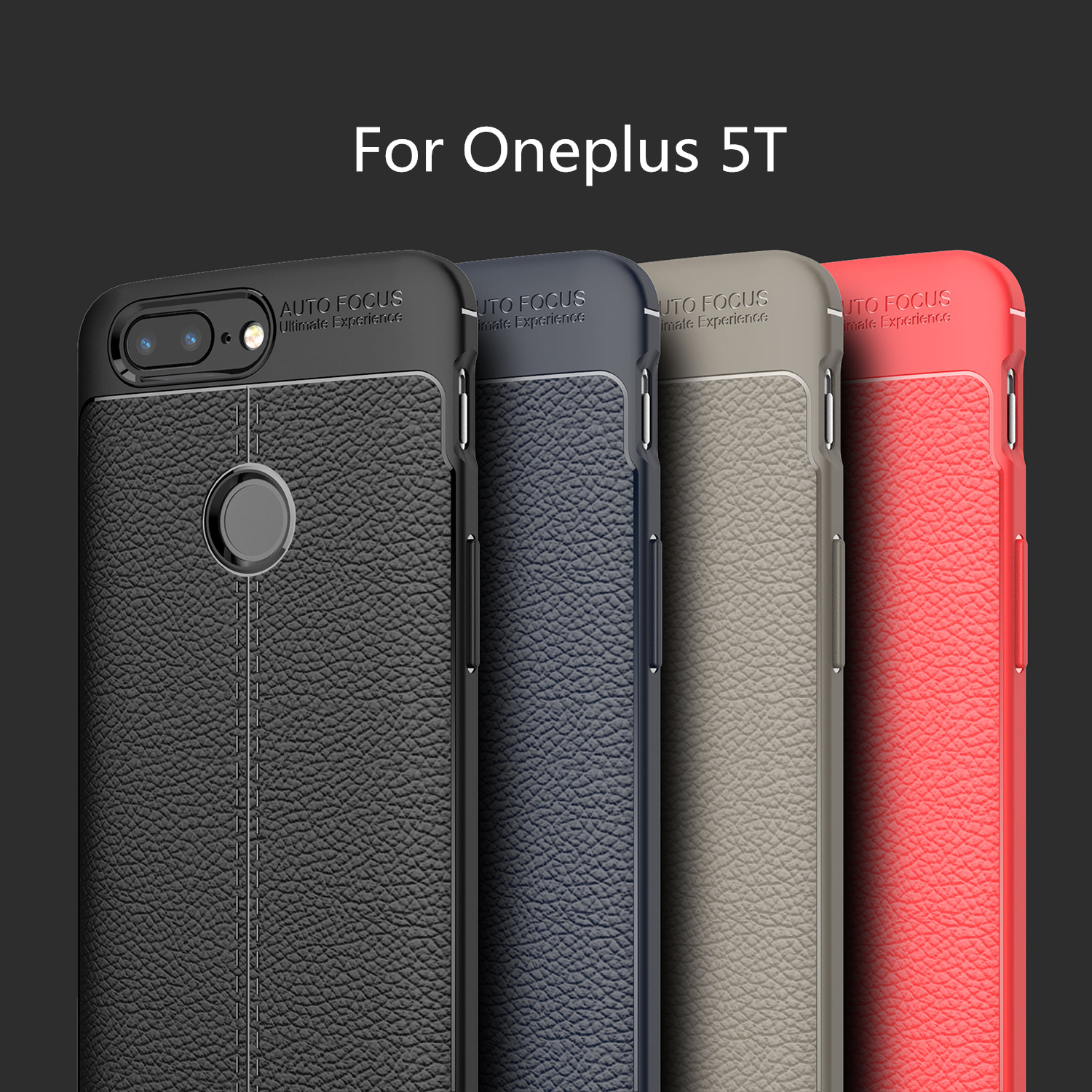 Oneplus 5T Case One Plus 5t Back Cover Shockproof Soft Litchi TPU Back Case Oneplus 5T 1+5t Anti-Knock Fundas Capa 6.01 HATOLY