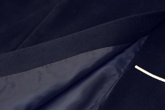 Manteau Qualité D634 Supérieure amp; Star Manteau Femmes Vintage Marine Conception Laine Broderie cape Lune Bleu Mode Marque En Pistes SqSnr6atx