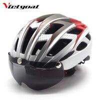 VICTGOAL Cycling Helmet Goggles Bicycle Helmet Men Women Bike Helmets Ultralight MTB Lens Helmets Road Safety