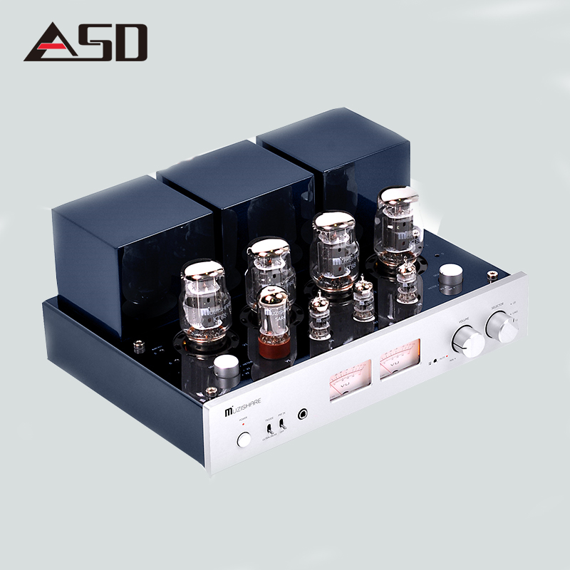 ASD Professional MUZISHARE X7 Integrate Rectifier KT88 Hifi Power Vacuum Tube Amplifier Multicenter AMP Amplificador 45W*2 music hall latest muzishare x7 push pull stereo kt88 valve tube integrated amplifier phono preamp 45w 2 power amp