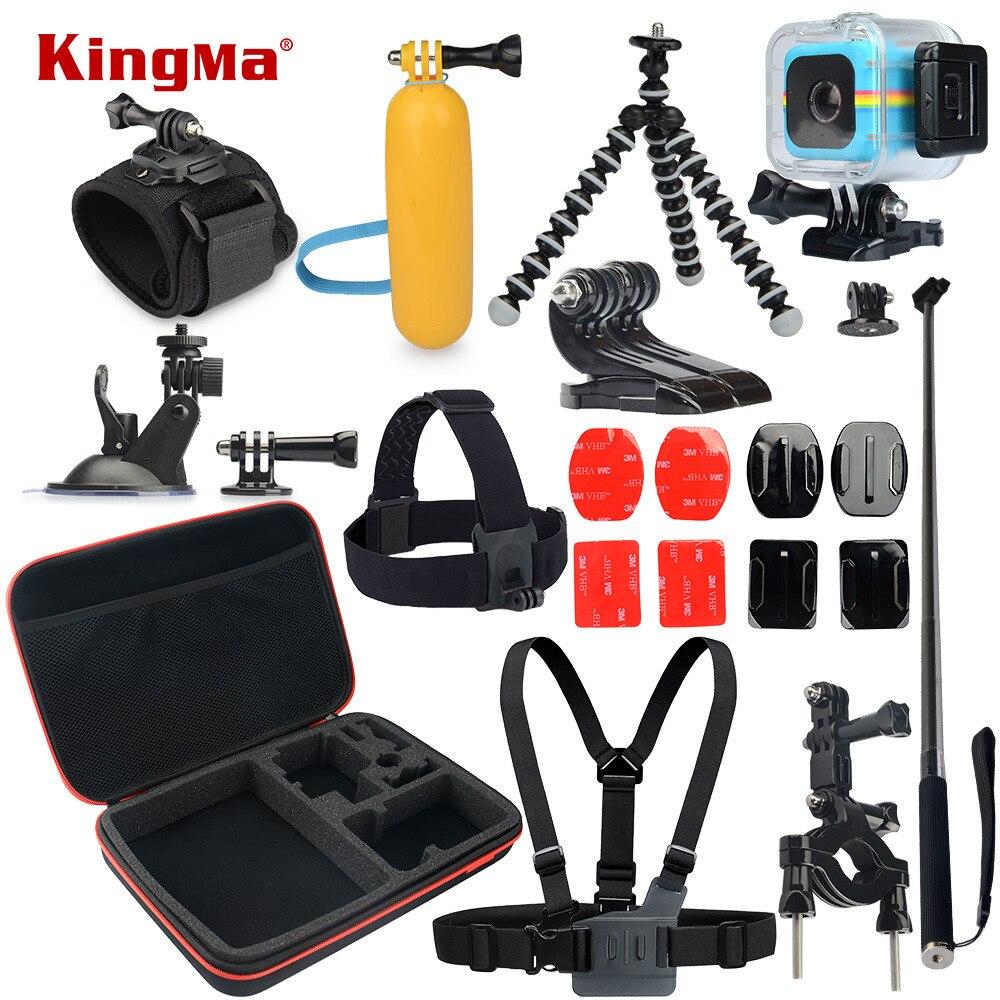 KingMa Pour Polaroid Cube Boîtier Étanche 12-en-1 Accessoires Kit pour Polaroid Cube et Cube + Accesorios ensemble