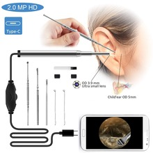 Medical Endoscope Camera 3.9MM Mini Waterproof USB Endoscope Inspection Camera For OTG Android Phone PC Ear Nose Borescope intraoral oral dental camera with 6 led light waterproof usb ear nose camera medical otoscopio endoscope borescope