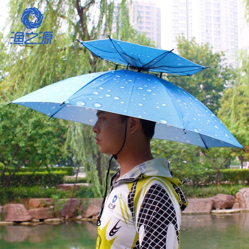 Fishing hats fishing umbrella cap head umbrella hat Large sun umbrella hat  sun hat fishing tackle 32a16a0835e