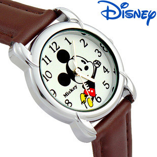 children girl boy Quartz wristwatches Disney brands mouse Mickey kids Boys girls Leather Cartoon  student watches relogio