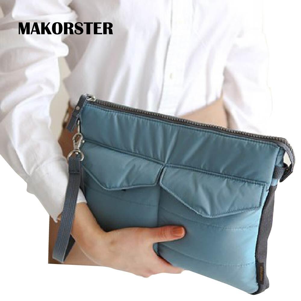 MAKORSTER Fashion solid women's clutch bag nylon women envelope bag wristlet clutch bag female Clutches Handbags MK278 все цены