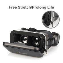 100% Original VR SHINECON 6.0 Virtual Reality goggles 120 FOV 3D Glasses google cardboard with Headset Stereo Box For smartphone