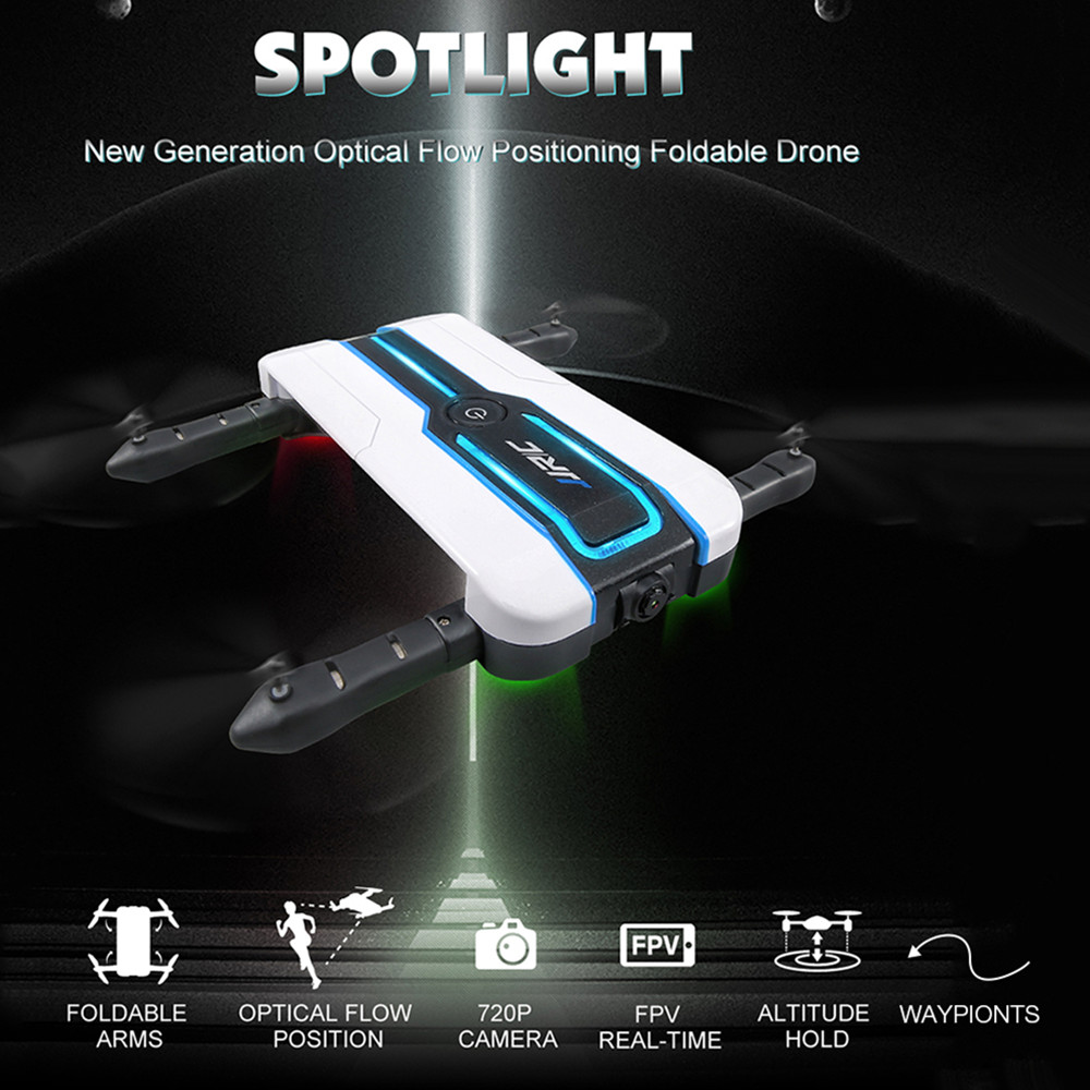 JJRC H61 Spotlight WIFI FPV Drone With 720P Camera Optical Flow Positioning Foldable RC Quadcopter Dron 6-Axis Mini Selfie Drone original jjrc h61 02 lower body shell h61 rc drone parts