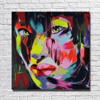 Best Oil Painting Living Room Wall Decor Artist Painted Modern Canvas Art Hand painted Face Pictures No framed