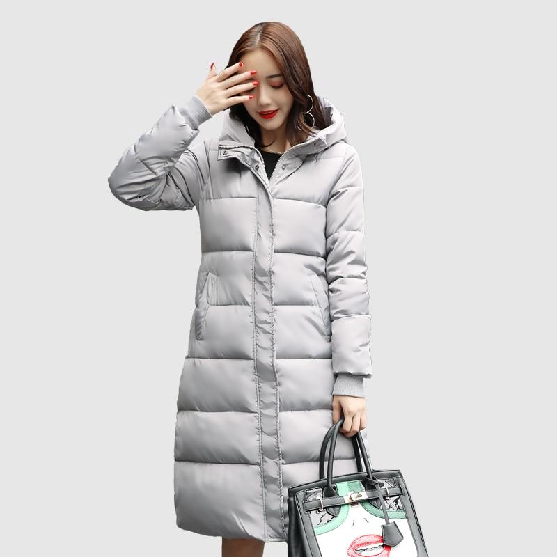 red Lj0754 Cotton Winter Thick Black khaki Long Women Female Jacket Hooded 2018 Fashion gray Coat Parkas Warm A70axId