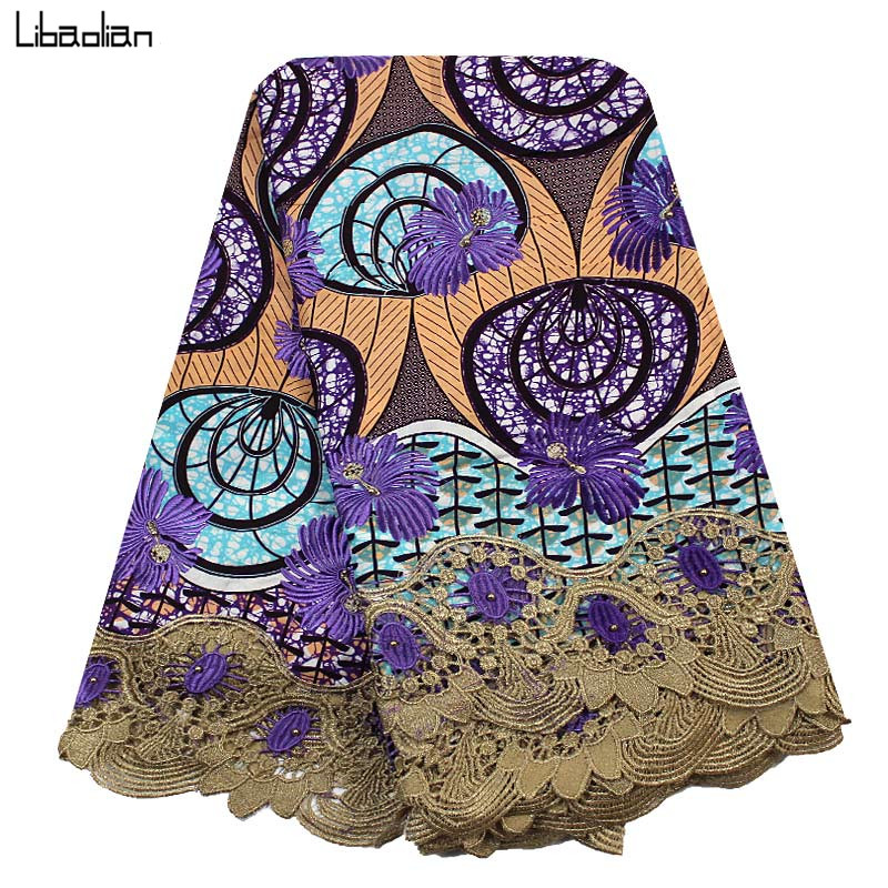 Amazing Embroidery Veritable Wax Fabric Batik Super Cotton Wax Lace
