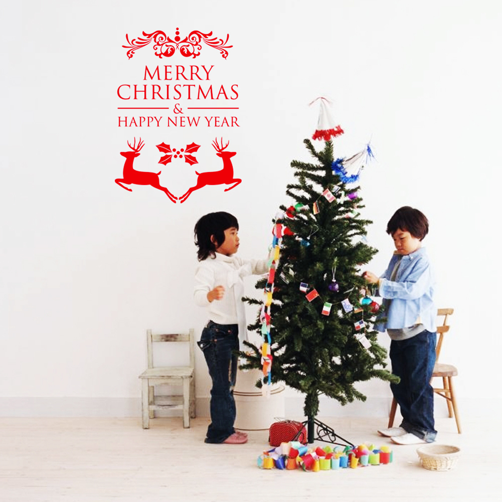 Online Shop Celebrate New Year And Christmas Festival Merry - Christmas wall decals removable