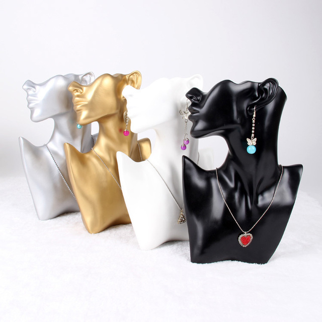 1pc Resin Jewelry Bust For Earring Necklace Jewelry Display Stand Holder High Quality Wholesale