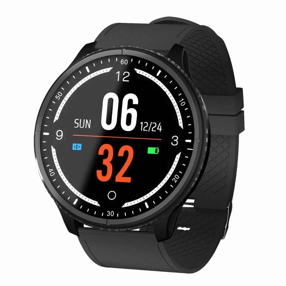 Relogio P69 спортивные Смарт-часы IP68 Водонепроницаемый сердечного ритма, измеритель артериального давления часы Поддержка извещение о входящем сообщении резиновый браслет