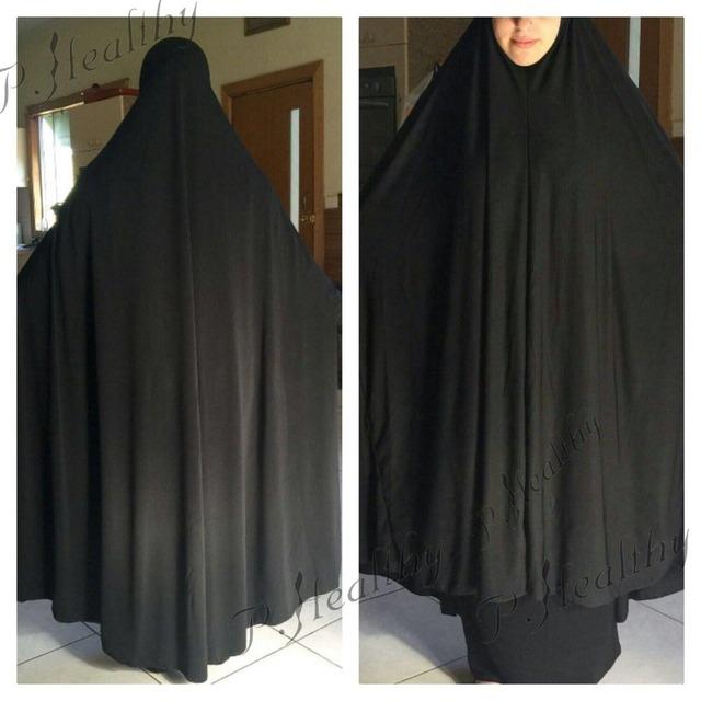 As Mulheres muçulmanas Oração Jilbab abaya Vestido Maxi Lycra, atacado Islâmico Khimar, pode escolher as cores, frete grátis, PH011