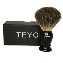 TEYO Pure Badger Hair Shaving Brush of Resin Handle With Gift Box beard brush Perfect for Shave Safety Razor Double Edge Razor