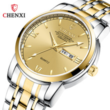 цены на CHENXI Men Watches 2019 Luxury Brand Casual Stainless Steel Quartz Watch Male Waterproof Fashion Wristwtach Relogio Masculino в интернет-магазинах