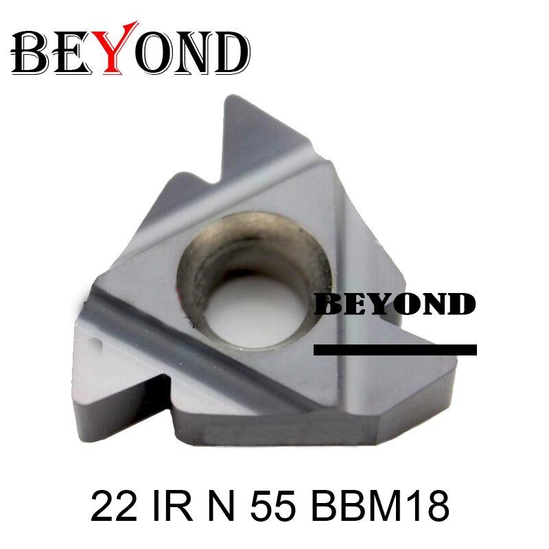 22 IR N 55 BBM18 Indexable Tungsten Carbide Threading Lathe Inserts for Threaded Lathe Holder thread