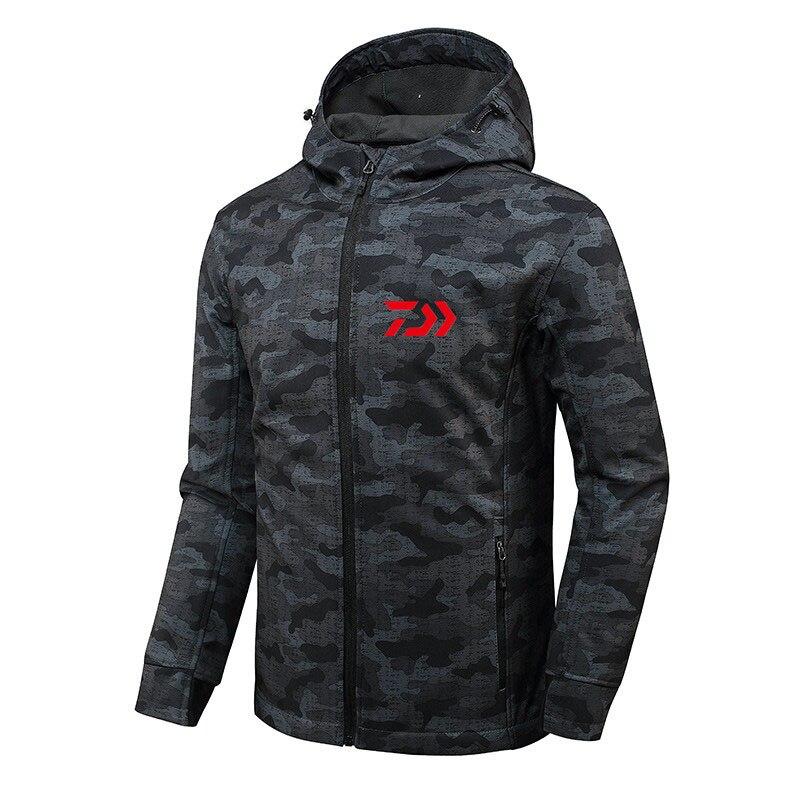 2019 DAIWA chemises de pêche automne hiver chaud en plein air Plus velours Daiwa vestes de pêche sport polaire à capuche veste de pêche