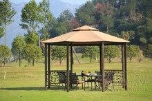 Dia 4 meter 8-edge shape garden patio gazebo tent aluminum outdoor sun shade pavilion furniture house canopy for party