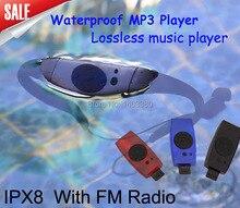 Sport music 8GB memory underwater MP3 Player radio FM head wearing MP 3 Players Diving swim surfing sports Super waterproof IPX8