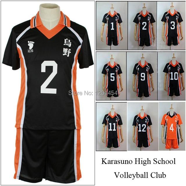Haikyuu !! Cosplay Costume Karasuno High School Volleyball Club Hinata Shyouyou Sportswear Jerseys Uniform