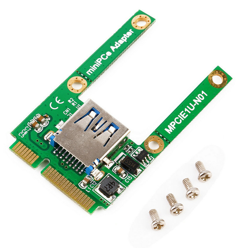 Hot New Mini PCI-E Card Slot Expansion to USB 2.0 Interface Adapter Riser Card