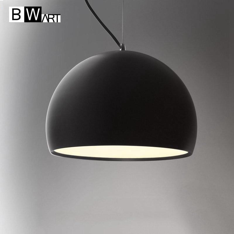 BWART Haging Pendant Lights Hemisphere Pendant Lamp Black White Lamp Shade  For Modern Bar Restaurant Bedroom