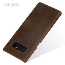 LANGSIDI  Custom Real Leather Mobile Phone Cover Case For Samsung Galaxy note8 phone case Handmade a variety of styles