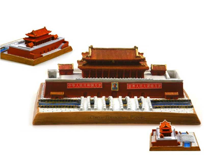 Hot Sale China Tiananmen Creative Resin Crafts World Famous Landmark Model Tourism Souvenir Gifts Collection Home Decor